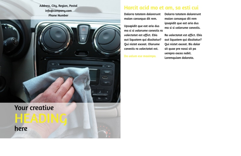 Car Cleaning Postcard Template Preview 3