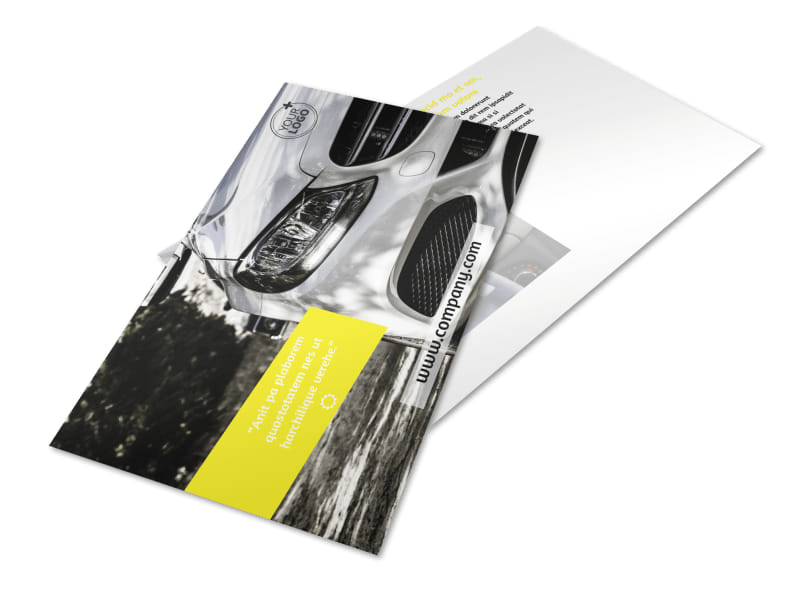 Car Cleaning Postcard Template 2