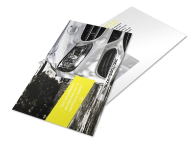 Car Cleaning Postcard Template 2 preview