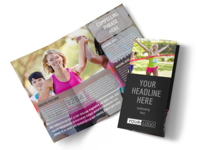 Charity Run Tri-Fold Brochure Template