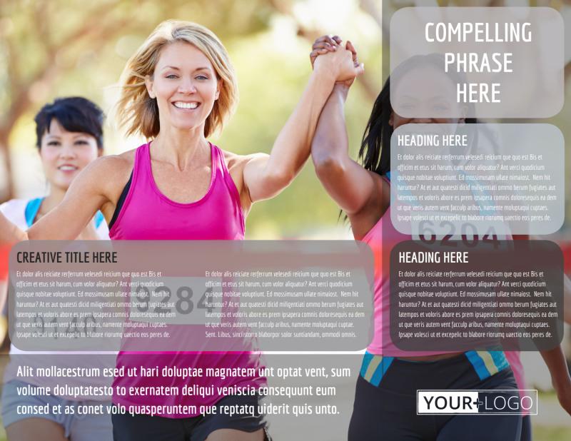 Charity Run Tri-Fold Brochure Template