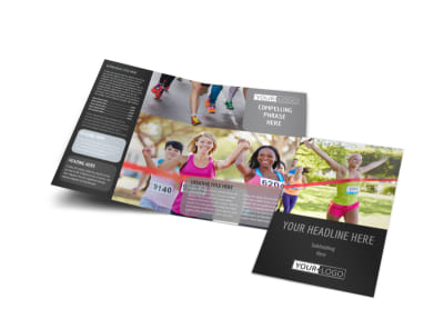 Charity Run Bi-Fold Brochure Template
