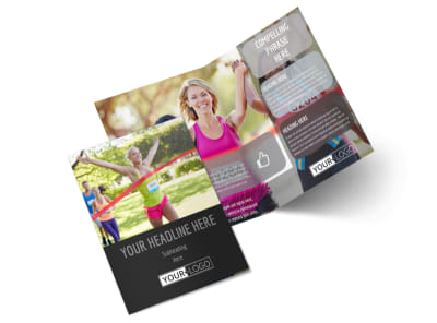Charity Run Bi-Fold Brochure Template 2