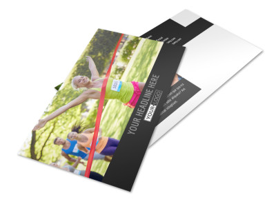 Charity Run Postcard Template preview