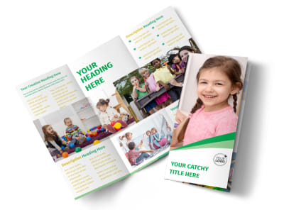 Baby & Child Day Care Tri Fold Brochure Template preview
