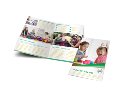 Baby & Child Day Care Bi-Fold Brochure Template preview
