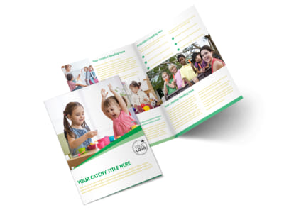 Baby & Child Day Care Bi-Fold Brochure Template 2