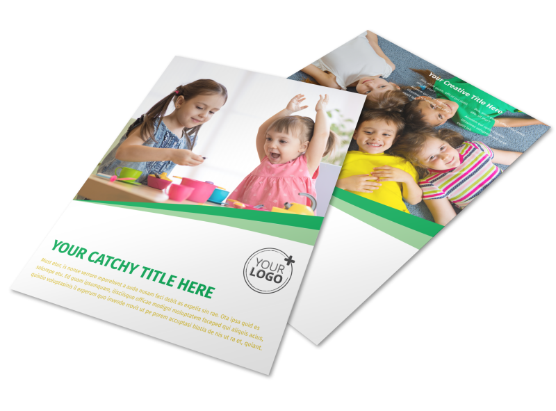 Child Daycare Flyer Template Preview 1