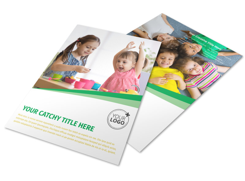 Child Daycare Flyer Template  Mycreativeshop