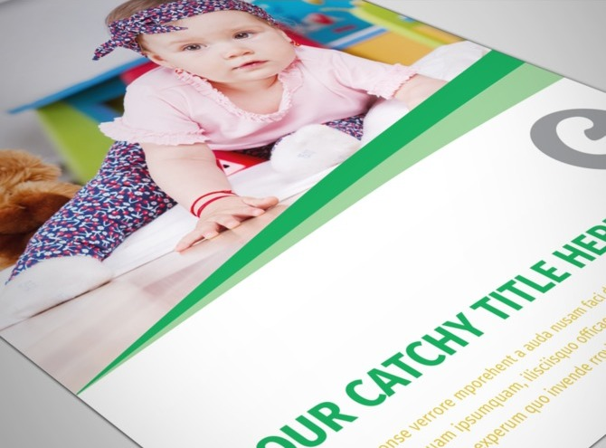 Baby & Child Day Care Flyer Template