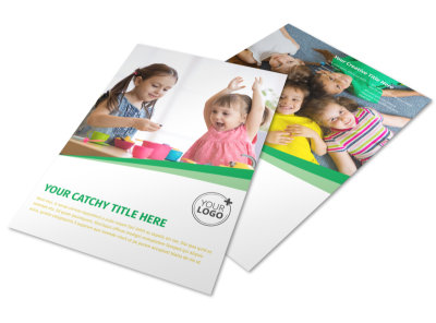 Baby & Child Day Care Flyer Template preview