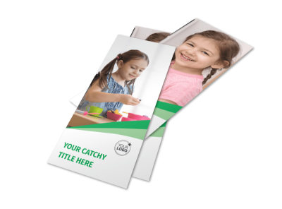 child care flyer design
