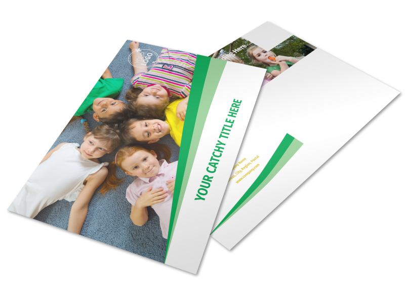 Child Daycare Postcard Template Preview 1