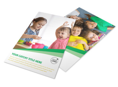 Baby & Child Day Care Flyer Template 3