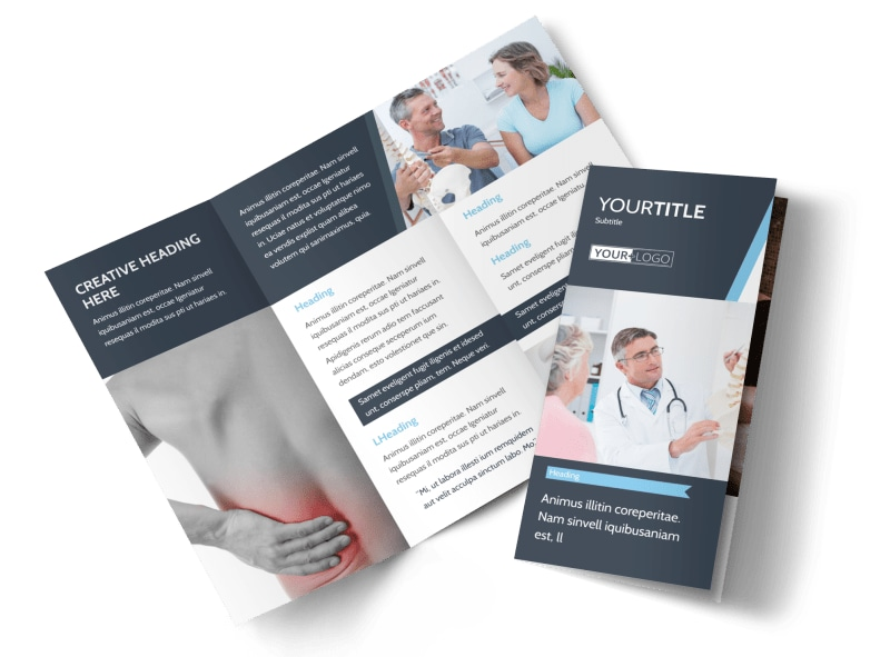 Chiropractor massage therapist brochure template for Massage brochure template