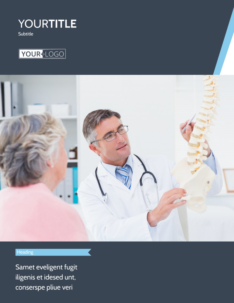 Chiropractor & Massage Therapist Flyer Template Preview 2