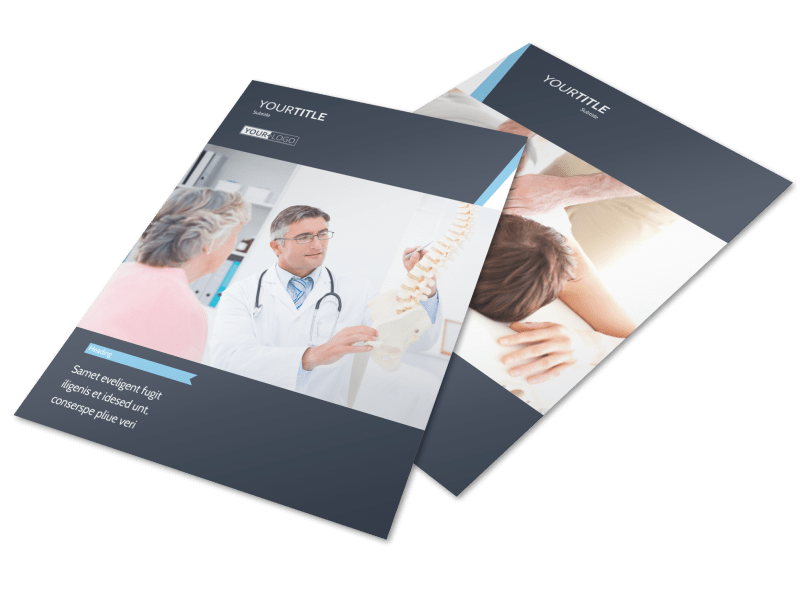 Chiropractor & Massage Therapist Flyer Template Preview 1