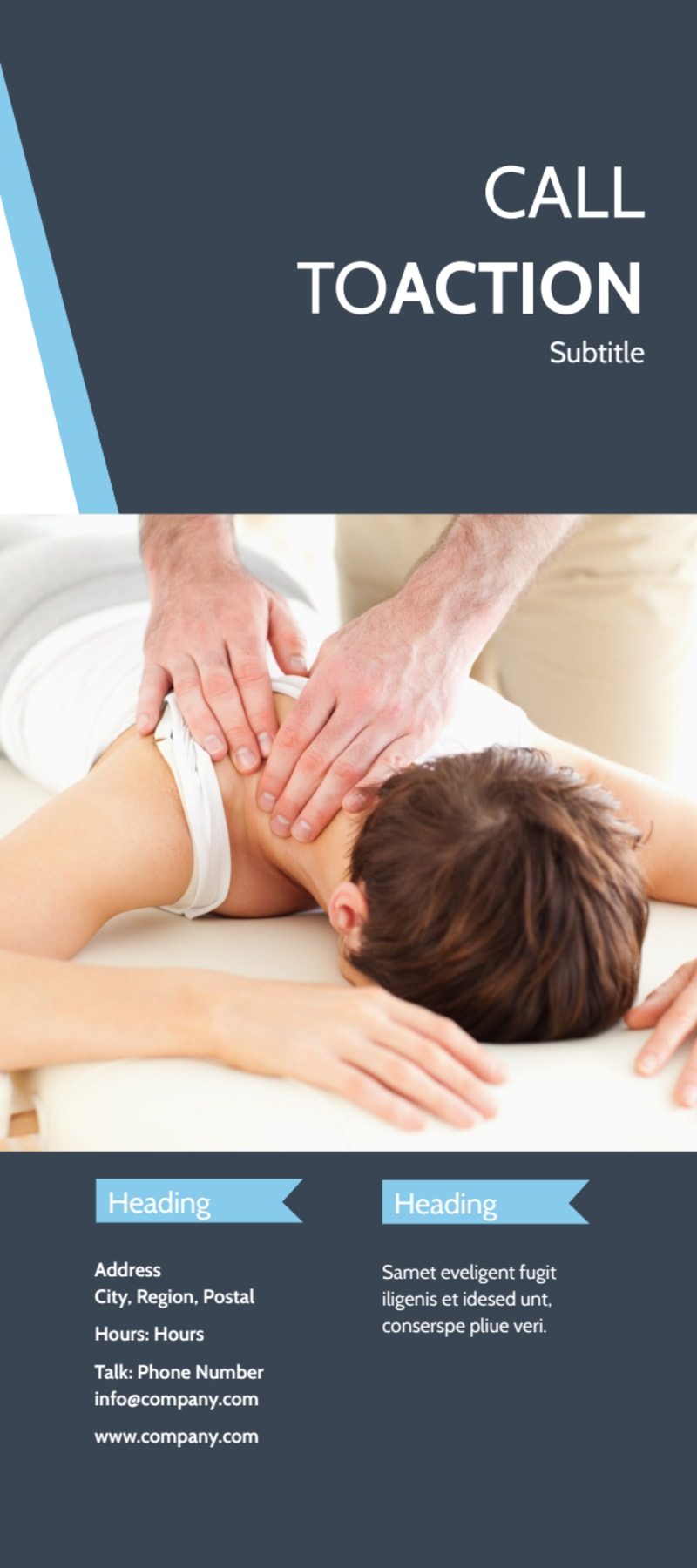 Chiropractor & Massage Therapist Flyer Template Preview 3