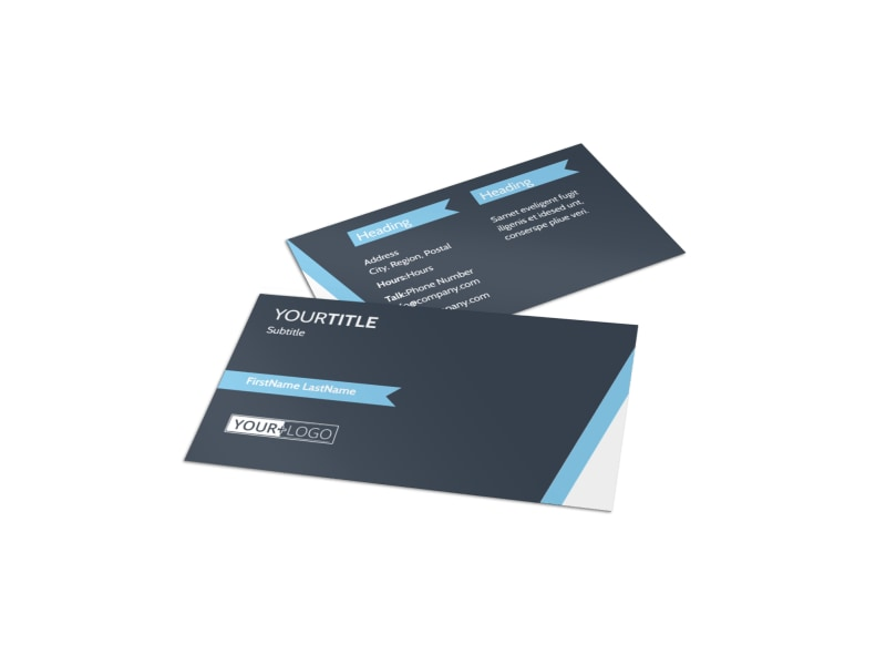 Chiropractor & Massage Therapist Business Card Template Preview 4