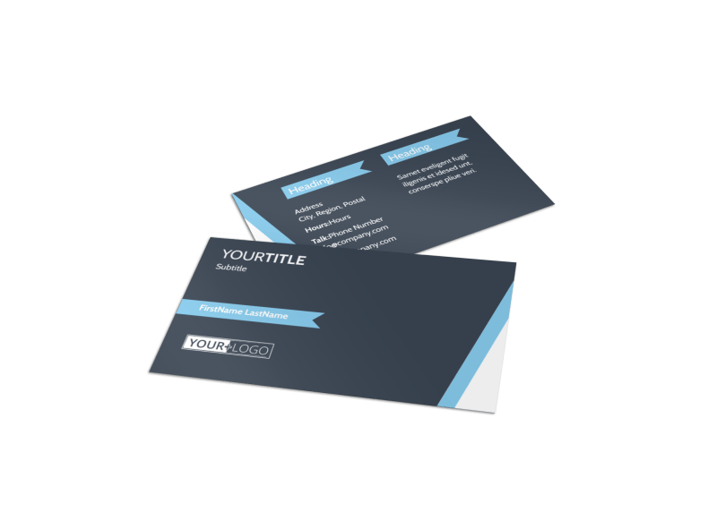 Chiropractor & Massage Therapist Business Card Template Preview 1