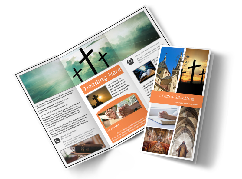 christian brochure templates - evangelical christian church brochure template