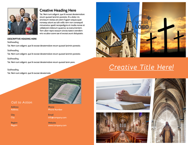 Evangelical & Christian Church Brochure Template Preview 2