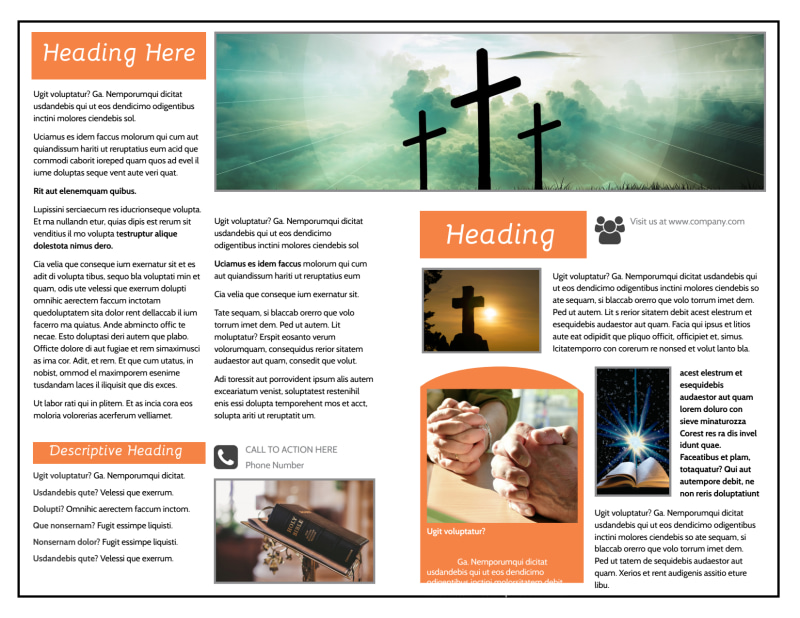 Evangelical & Christian Church Brochure Template Preview 3