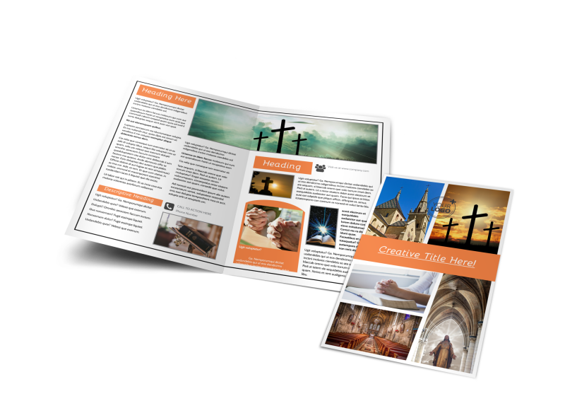 Evangelical & Christian Church Brochure Template Preview 1