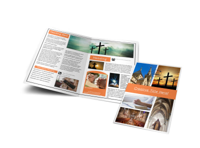 Christian Ministry Bi-Fold Brochure Template preview