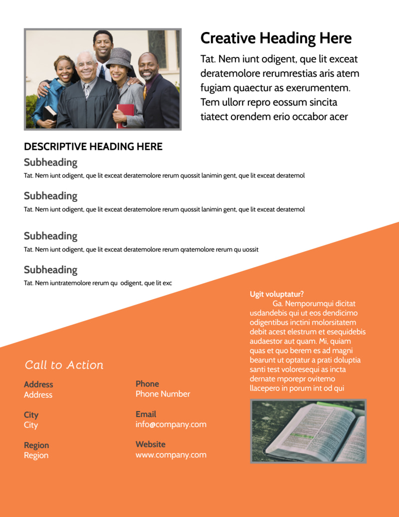Evangelical & Christian Church Flyer Template Preview 3