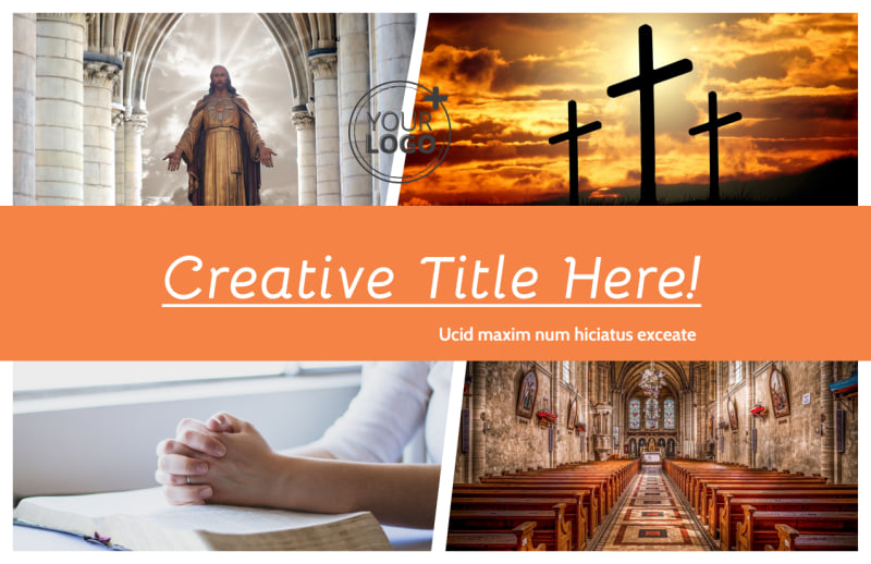 Evangelical & Christian Church Postcard Template Preview 2