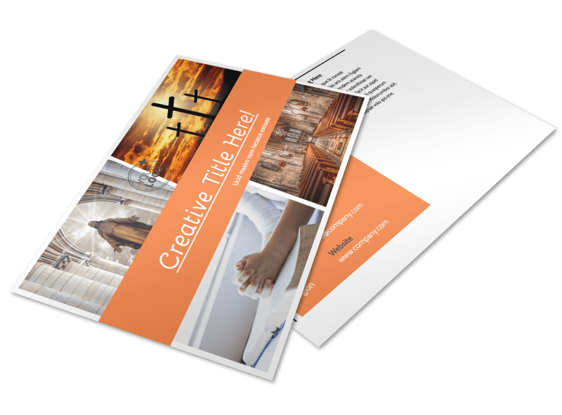 Evangelical & Christian Church Postcard Template Preview 1