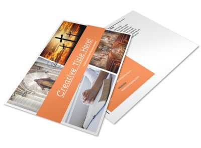 Christian Ministry Postcard Template preview