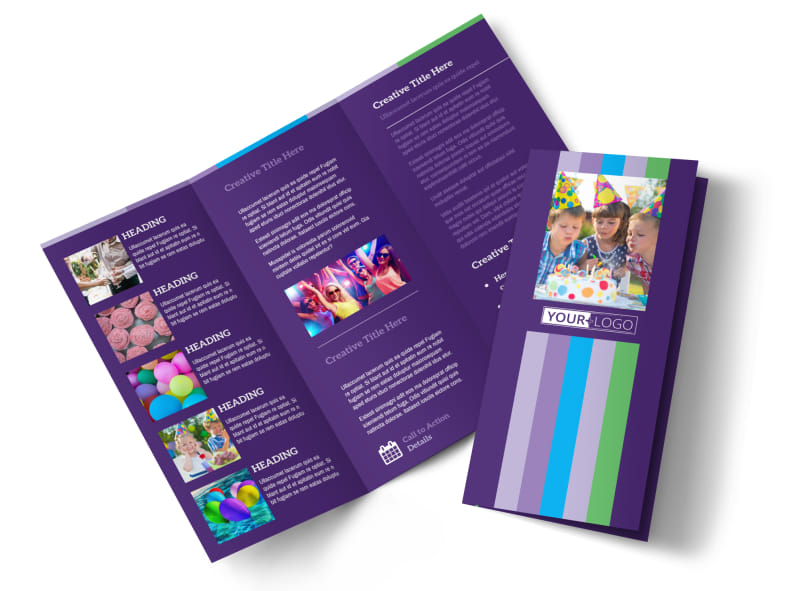Party Entertainment Company Tri-Fold Brochure Template