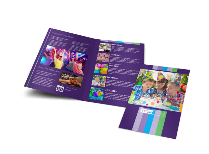 Party Entertainment Company Bi-Fold Brochure Template