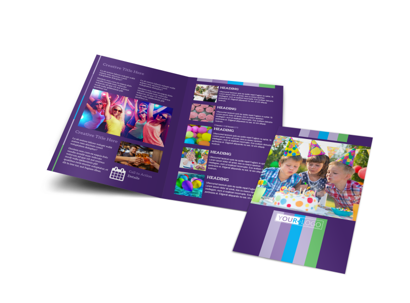 Party Entertainment Company Brochure Template Preview 1
