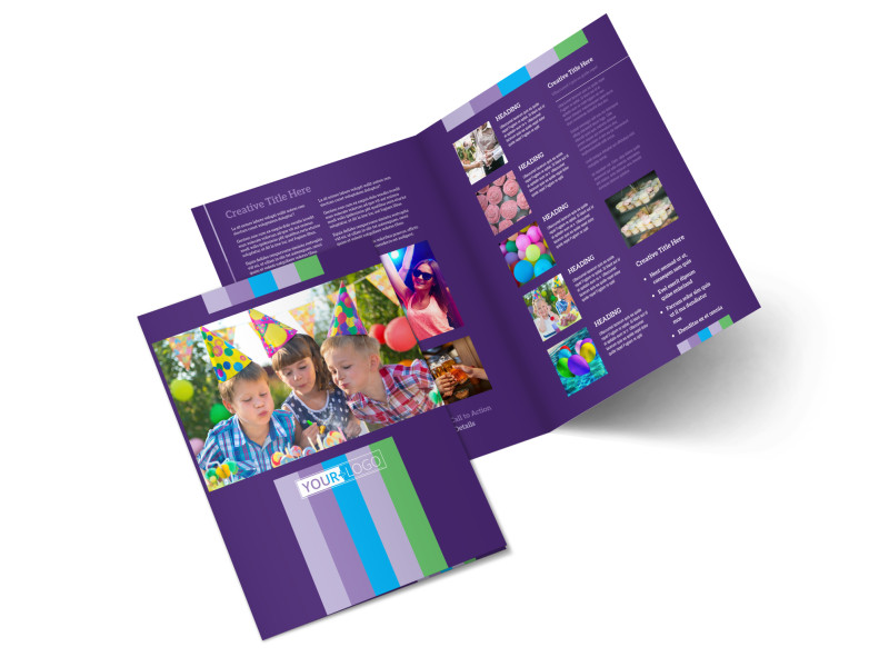 Party Entertainment Company Bi-Fold Brochure Template 2