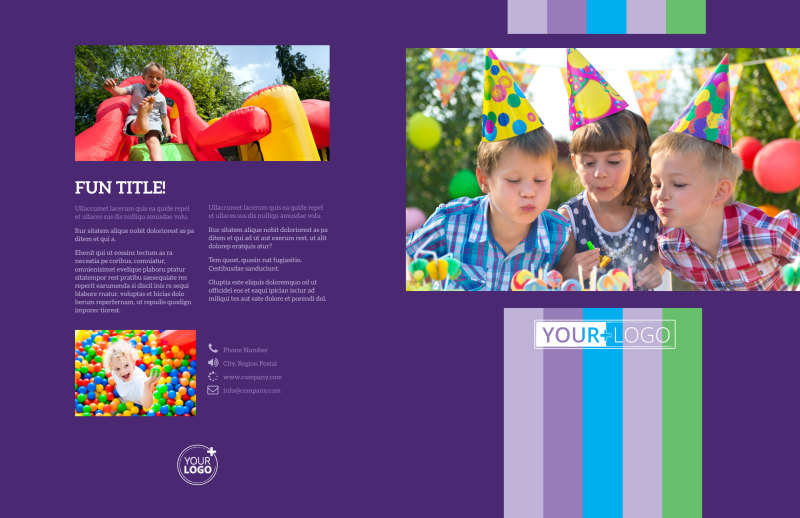 Party Entertainment Company Brochure Template Preview 2