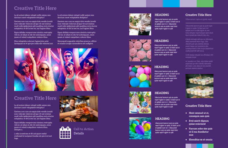 Party Entertainment Company Brochure Template Preview 3