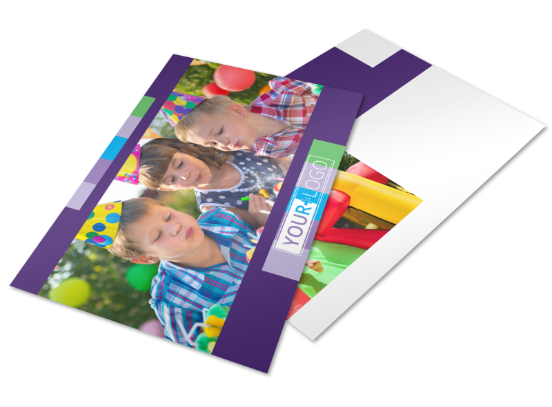 Party Entertainment Company Postcard Template Preview 1