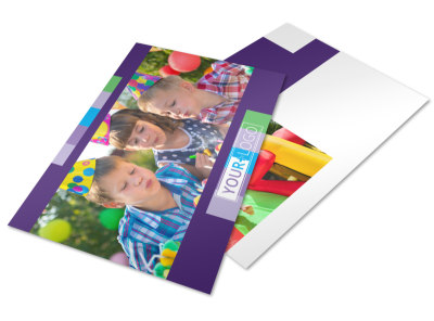 Party Entertainment Company Postcard Template preview
