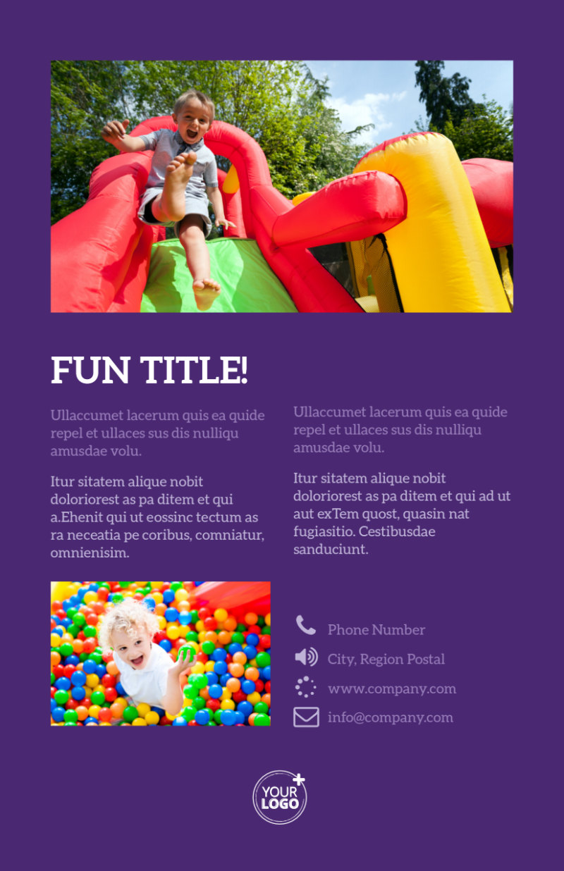 Party Entertainment Company Flyer Template Preview 3