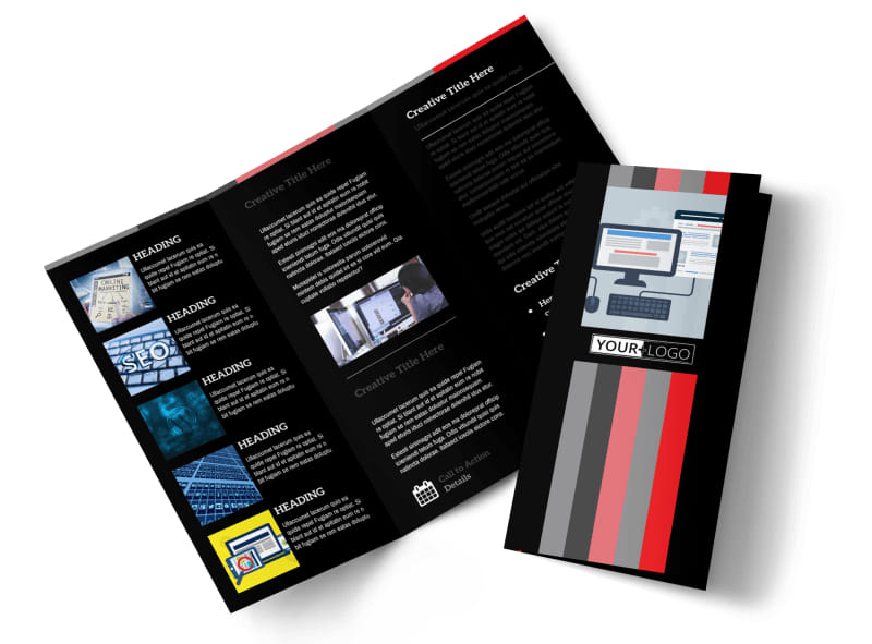 Creative Web Designers Tri-Fold Brochure Template