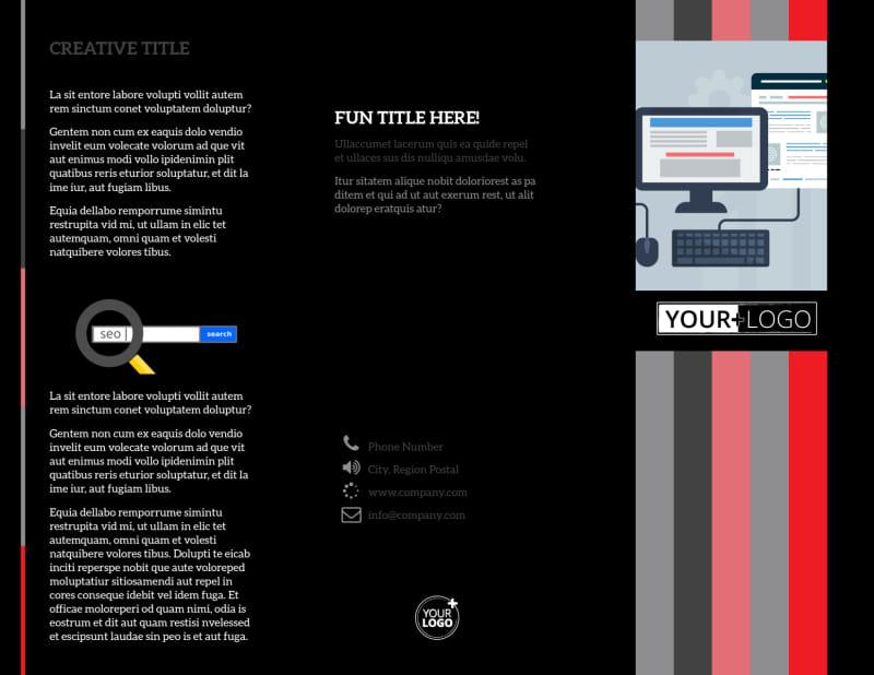 Creative Web Designers Brochure Template Preview 2