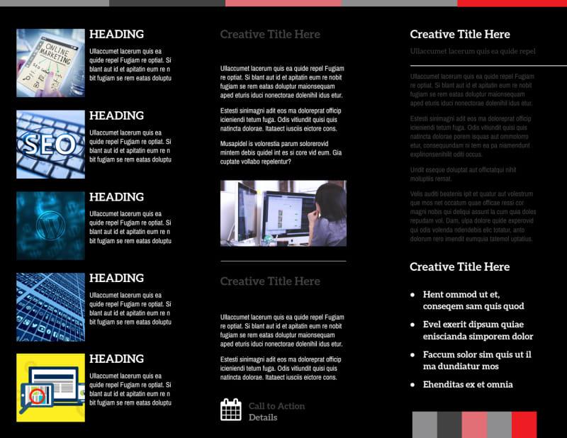 Creative Web Designers Brochure Template Preview 3