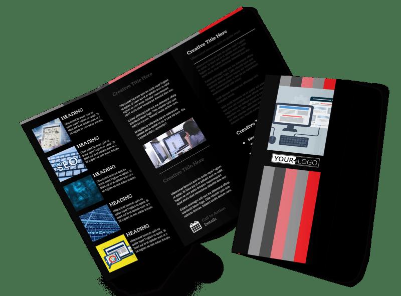 Creative Web Designers Brochure Template Preview 1