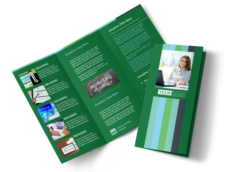 Marketing Consultant Tri-Fold Brochure Template