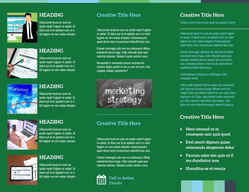 Marketing Consultant Brochure Template Preview 3