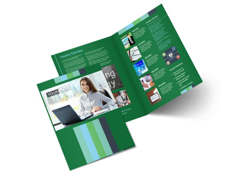 Marketing Consultant Bi-Fold Brochure Template 2