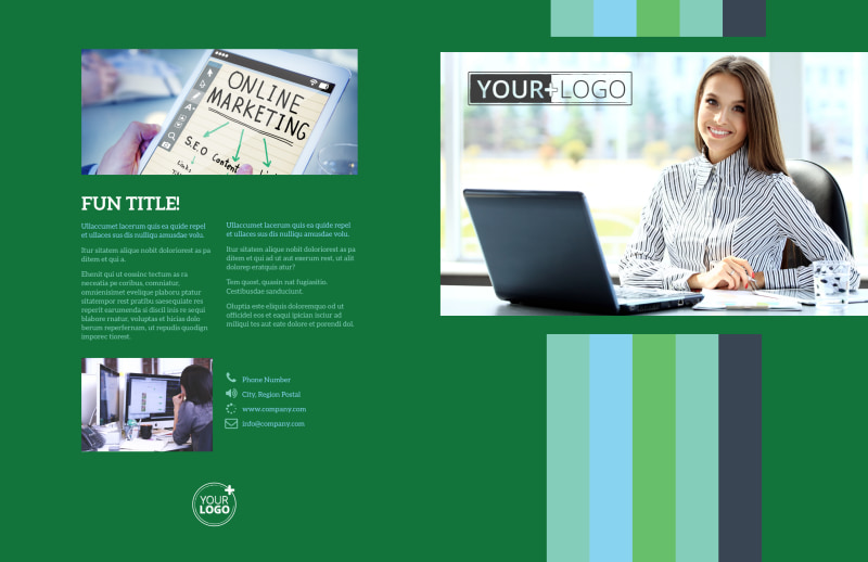 Marketing Consultant Brochure Template Preview 2